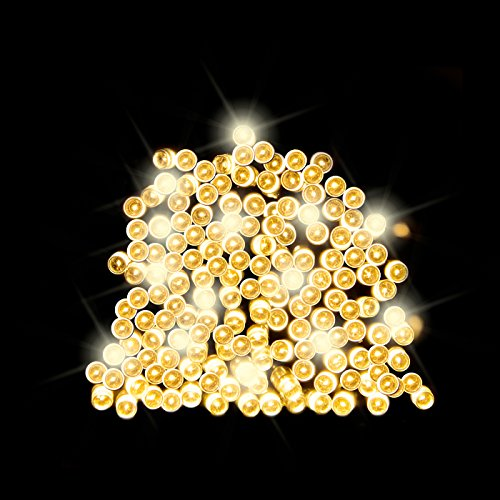 100 Warm White LED Solar Fairy Lights / String Lights / Christmas Lights by SPV Lights: The Solar Lights & Lighting Specialists (Free 2 Year Warranty Included)
