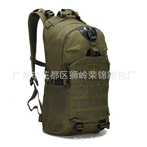 Camouflage Double Shoulder Bag wandern outdoor Bags wandern Taschen 48 * 32 * 16 cm, drei sand Camouflage Armee Grün