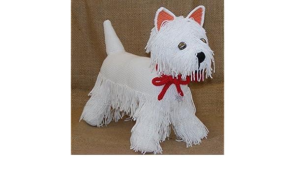 Handmade Artist Crochet West Highland White Terrier One Of A Kind Artist