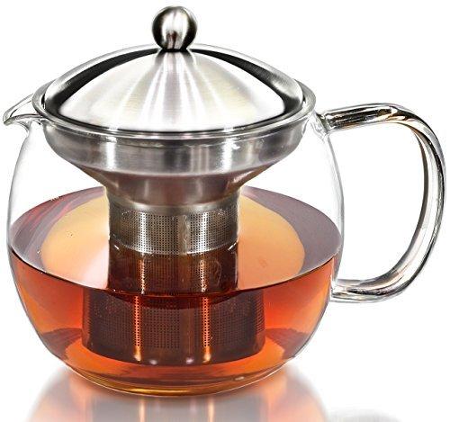 Willow & Everett Teekanne Wasserkocher mit wärmer - Teekanne und Teesieb Set - Tee Infuser hält 3-4 Tassen