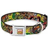 Buckle Down 22,9–38,1cm Marvel Comics Thor und Loki Posen/Retro Comic Bücher gestapelt Hundehalsband