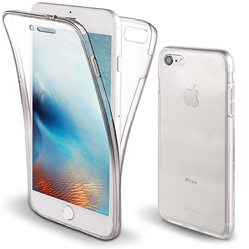 6976859112a Moozy Funda 360 Grados para iPhone 6S / iPhone 6 Transparente Silicona -  Full Body Case