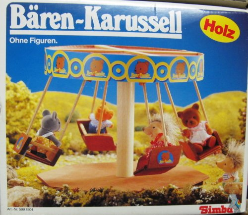 SIMBA 599 1504 BÄREN-Karussell aus HOLZ (Alter 3+) (Holz 599)