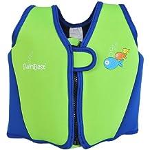 Chaleco/chaqueta de natación Swimbest - Verde/azul marino - 18 meses - 3 años (hasta 20 kg aprox)