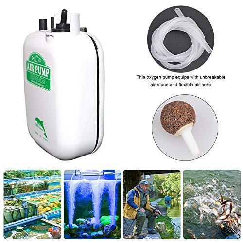 Hook.s Angeln Aquarium Luftpumpe Angeln wasserdichte Sauerstoffpumpe Tragbare Batterie mit großer Leistung