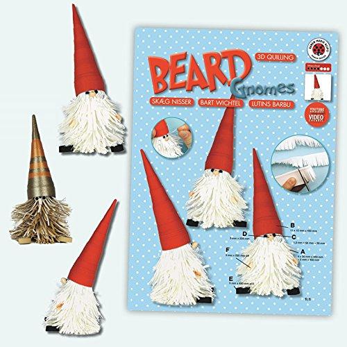 Karen Marie Klip: Beard Gnomes/Bart Wichtel, Quilling Instruktion