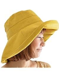 a7df4007acb Hosaire 1 Pcs Bucket Summer Sun Hat Foldable Beach Cap Wide Brim UPF50+  Packable for Womens