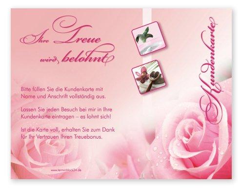 Kundenkarten (50 Stück) für Kosmetik, Wellness, Beauty, Massage - Bonuskarten
