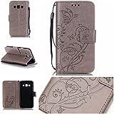 Jepson Samsung Galaxy A3 (2015) / SM-A300F (4.5 pouces) coque , PU Cuir Portefeuille Etui Housse Case Cover , carte de crédit Fentes pour , L'utilisation de la technologie de pointe , gaufrage , motif de papillon , idéal pour protéger votre téléphone ,