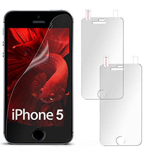 2X iPhone 5S Schutzfolie Matt Display Schutz [Anti-Reflex] Screen Protector Fingerprint Handy-Folie Matte Displayschutz-Folie für iPhone 5/5S/SE Displayfolie