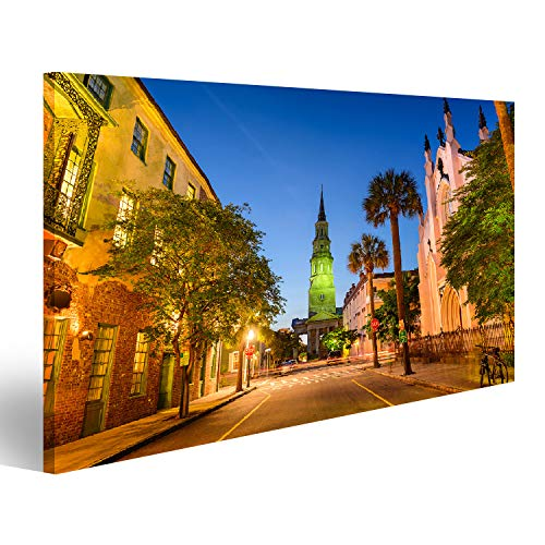 bilderfelix® Bild auf Leinwand Church Street in Charleston South Carolina USA Wandbild Poster Leinwandbild RJQ