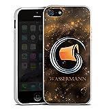 Apple iPhone 5 Silikon Hülle Silber Case Schutzhülle Sternzeichen Wassermann Astrologie
