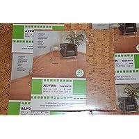NEU Kork (30x30x4), Korkboden, Wandkork, Bastelkork, Korkplatten, Fußboden, Dämmung, Unterlagskork, Alvor lackiert