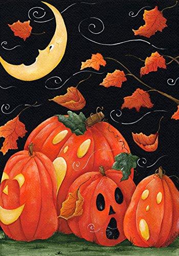 1,8x 45,7cm Deko Spuk-Jack O Laterne Kürbis Halloween Garten Flagge (Jack O Laternen Ideen)