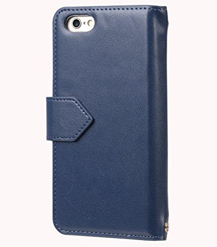 Apple Iphone 6S Plus/6 Plus Kuboq Japan-Taschen-Kasten mit PU-Leder Handgefertigte Guter Schutz, Premium-Gefühl Dunkelblau