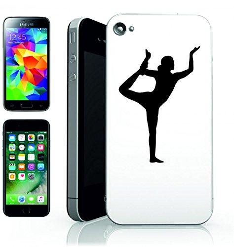 Smartphone Case Esercizio della femmina della Donna della Ragazza di yoga pose-strecken posieren silhouette della salute di fitness di persone per Apple Iphone 4/4S, 5/5S, 5C, 6/6S, 7& Samsung Gal