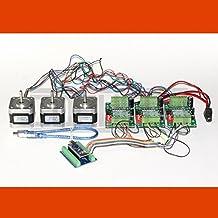 3D CNC USB Controlador de motor paso a paso Fresadora con Software y 3 x NEMA 17 (1,7 A)