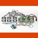 3D CNC USB Schrittmotor-Steuerung Fresadora mit Software und 3 x NEMA 17 Motoren (1,7 A)