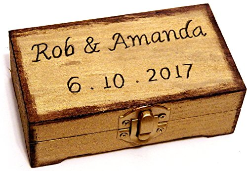 muck Ring Box, Jahrestag Ring-Träger-Box, Ehering Halter, Gravierte Ring-Träger-Geschenk, Ring-Träger Kissen Alternative (Ring-träger-geschenk)