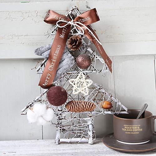 Dorical deko Weihnachten Weihnachten Dekoration Basteln Weihnachten Kranz Tür Wand Verzierung Weihnachten Baum Hängend Dekoration Blume Bogen