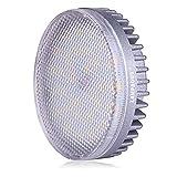 Lampaous GX53 LED Einbauleuchte Vitrinenbeleuchtung Lampe 8W, ersatz für 60W Glühlampen, 3000K Warmweiß 640lm LED Kabinett-Beleuchtung Schrankleuchten Unterbauleuchte Einbaustrahler Einbauspot Deckenlampen Decken-Unten Spot Reflektor