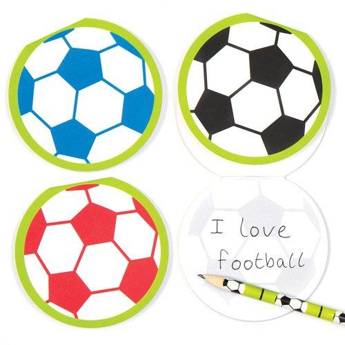 """Baker Ross Notizblöcke """"Fußball"""" für Kinder – perfekt als kleine Partyüberraschung für Kinder (6 Stück)"""