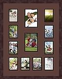 Art An Rahmen double-multimat-611–736/89-frbw26061Collage Rahmen Foto Doppel Matte mit 10–3,5x 5und 2–5x 7Öffnungen und Espresso Rahmen