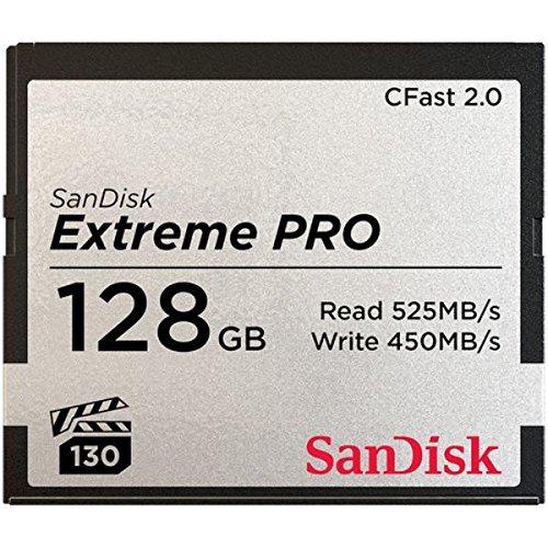 Sandisk extreme pro cfast 2.0 scheda di memoria da 128 gb, fino a 525 mb/sec