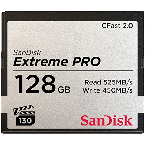 SanDisk Extreme Pro CFast 2.0 128GB Memory Card (SDCFSP-128G-G46D)