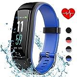 Dwfit Fitnesshorloge met hartslagmeter, waterdicht fitnessarmband, activiteitstracker, fitnesstracker, stappenteller, horloge, sporthorloge voor iOS en Android mobiele telefoons