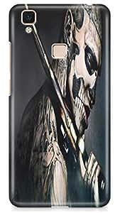 PCM High Quality Printed Designer Polycarbonate Hard Back Cover for Vivo V3 Max - Matte Finish - Color Warranty - 0125