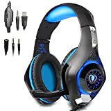 PECHAM 3.5mm Gaming Headset para PlayStation 4, Xbox One, PC, Portátiles, Smartphones, Blue