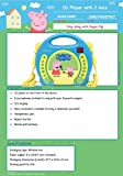 Lexibook Peppa Pig Georges CD player for kids with 2 toy microphones, headphones jack, with batteries, blue, RCDK100PP