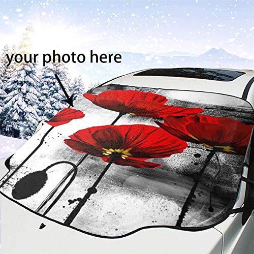 JK-2 Parabrezza Anteriore Visiera Parasole Personalizzazione Fotografica Fai da Te Pieghevole Parabrezza Anteriore antigelo Copertura antigelo per Protezione Ghiaccio/Neve/Gelo/UV