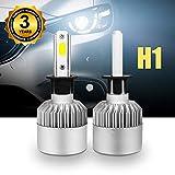 Lampadine H1 LED 8000LM, Kit Sostituzione per Alogena Lampade e Xenon Luci, Fari Abbaglianti o Anabbaglianti per Auto, 12V-24V, Lampada 6000K Bianco