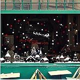 GYMNLJY Pegatinas de pared Navidad escaparate vidrio decorativo pared pegatinas Home Decor extraíbles etiqueta etiqueta de la pared , 60*90cm