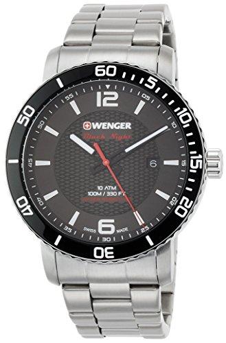 Wenger Reloj Analogico para Unisex de Cuarzo con Correa en Acero Inoxidable 01.1841.104