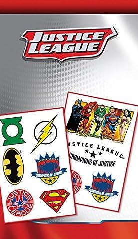 Set: Ligue De Justice D'Amérique, Justice League Mix, DC Comics Paquet De Tatouages (17x10 cm) + 1x Sticker Surprise 1art1®