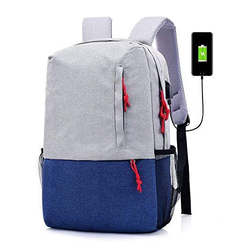 ssssllll SKYyao Laptop Rucksack mit USB,Männer und wasserdichter Rucksack aus Polyester große Kapazität -