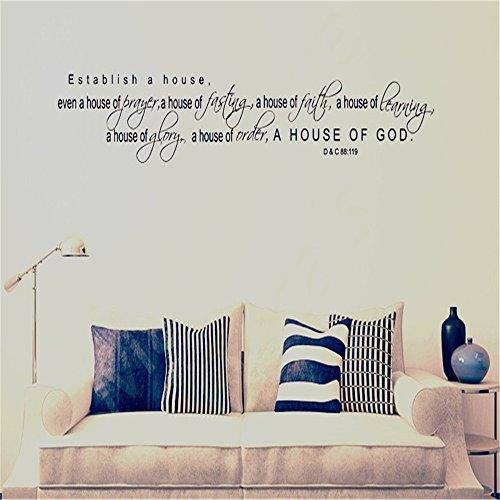 wandaufkleber baby sterne Errichten Sie Ein Haus, sogar ein Haus des Gebets, ein Haus des Fastens, ein Haus des Glaubens, ein Haus, in dem ein Haus der Herrlichkeit erlernt wird, ein Haus der Ordnung, ein Haus Gottes (Herrlichkeit Haus)