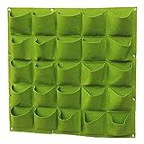 Teerfu 25 Pocket giardino verticale Planter multi Pocket Wall Mount Living crescere borsa in feltro per interni/esterni pot