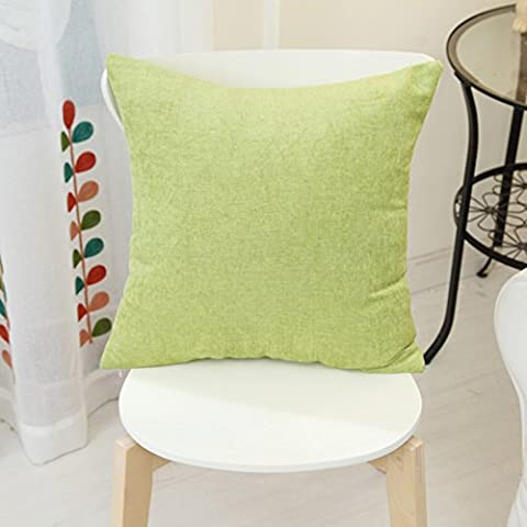 More colors/Chenille solid color cushion/ simple-style pillow/pillowcase for sofa and bed -A