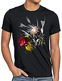 style3 Saitama Punch Herren T-Shirt one anime manga
