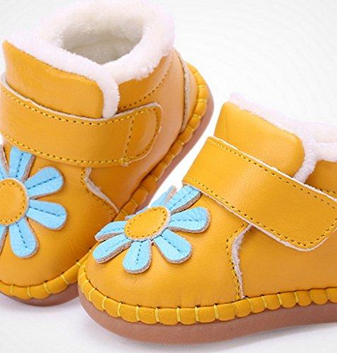 EOZY Bébé Bottes d'Hiver Bottines pour Enfant Petit Chaud Premier Pas Jaune