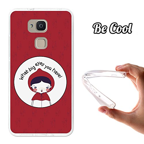 BeCool Funda Gel Flexible para Bq Aquaris V Plus, Carcasa TPU Fabricada con la Mejor Silicona, Protege y se Adapta a la Perfección a tu Smartphone y con Nuestro Exclusivo Diseño. Caperucita Roja