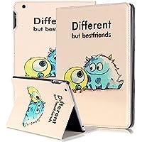 DEENOR Cute Big eyes Designer Custodia in pelle Borsa Smart Cover Case per Apple iPad 2 iPad 3 iPad 4 + Omaggio Toccando penna / penna stilo + dello schermo della pellicola della protezione A27