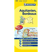 Aquitanien - Bordeaux 1 : 150 000: Localkarte  (Michelin-Karten)