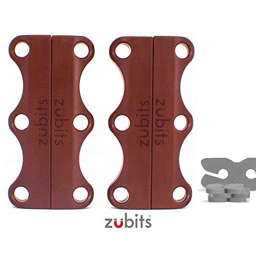 Preisvergleich Produktbild zubits® - Magnetische Schuhbinder / Magnetverschlüsse für Schuhe - Nie wieder Schuhe binden! Größe 3 Performance / Große Erwachsene in braun