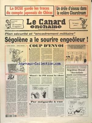 CANARD ENCHAINE [No 4467] du 07/06/2006 - LA DGSE ...