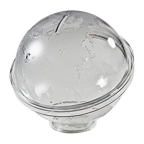 HMF 47500 Spardose Acryl Globus, abschließbar, 13,0 cm Ø -